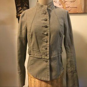Free People Military Style Denim Jacket!